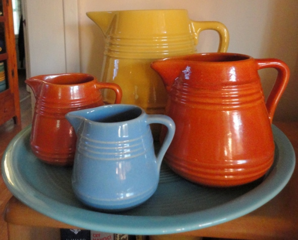 pacificpottery_pitchers_.5_pt_-_delph_-_427_1_pt_and_1_qt_apache_428_429_2_qt_yellow_-_508