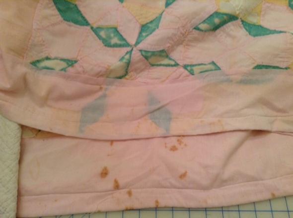 trashed quilt