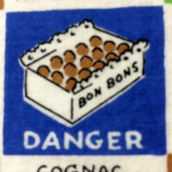 Danger! Bonbons! vintage hankie graphics