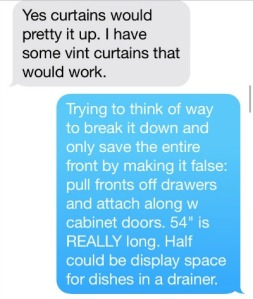 convert kitchen cabinet into a false front