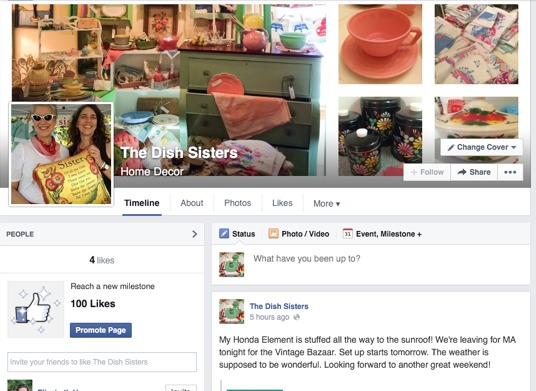 new Dish Sisters Facebook page