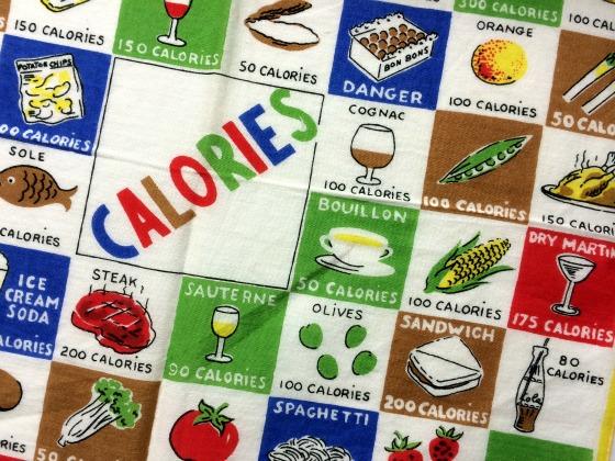 vintage calorie counter hankie