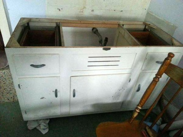 vintage kitchen cabinet
