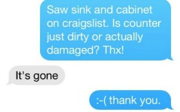 the Craigslist seller replies