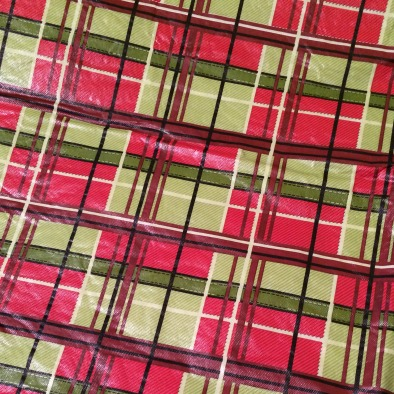 50 plaid flannel backed tablecloth