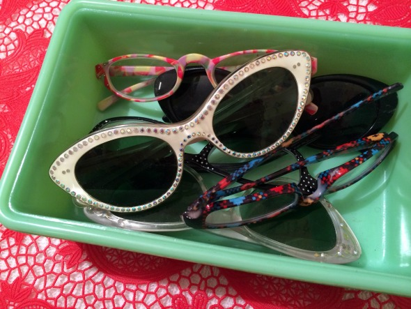 vintage catseye glasses for sun and readers