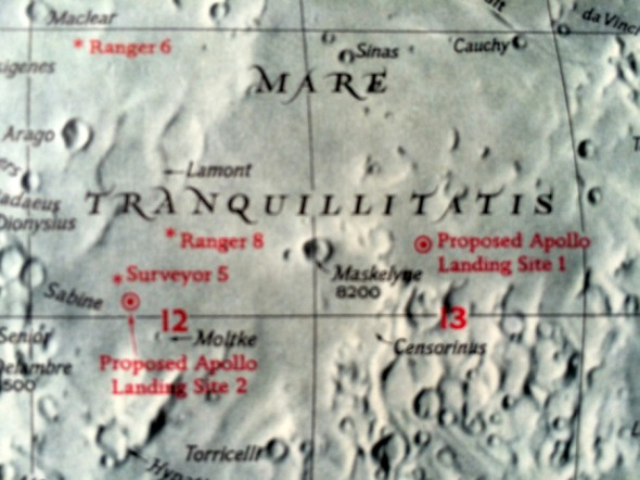 Mare Tranquillitatis Apollo landing sites