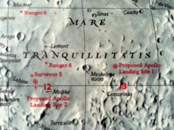 Mare Tranquillitatis Apollo landing sites