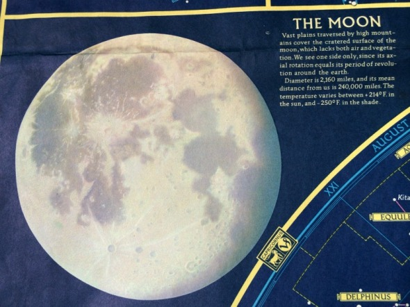 1957 drawing of the moon surface
