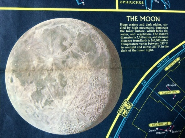 1970 drawing of the moon