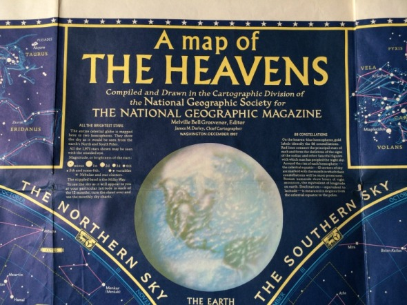 National Geographic 1957 Map of the Heavens