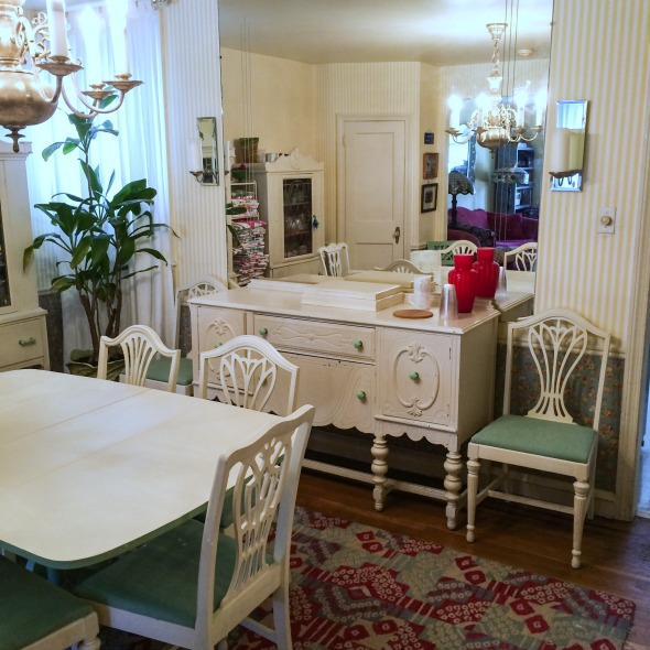1930s buffet and huge wall mirror