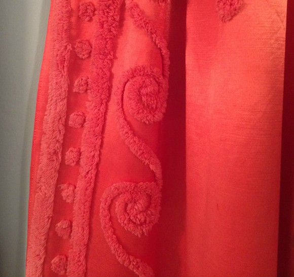 vintage satin and chenille curtains