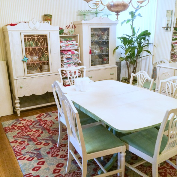 1930s dining table and china cabinets