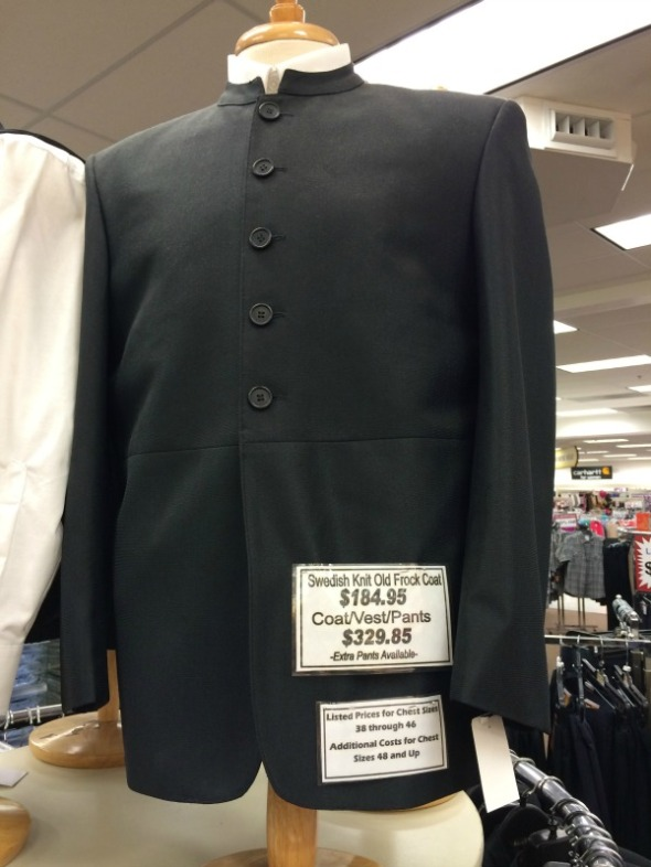 mennonite men's suit