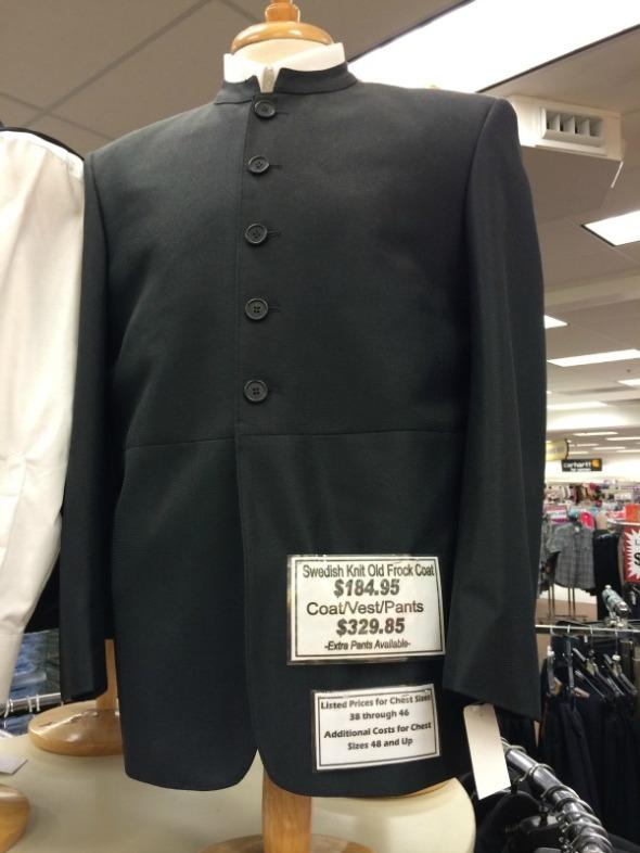 mennonite men's suit