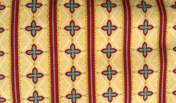 yellow red jadeite stripe fabric