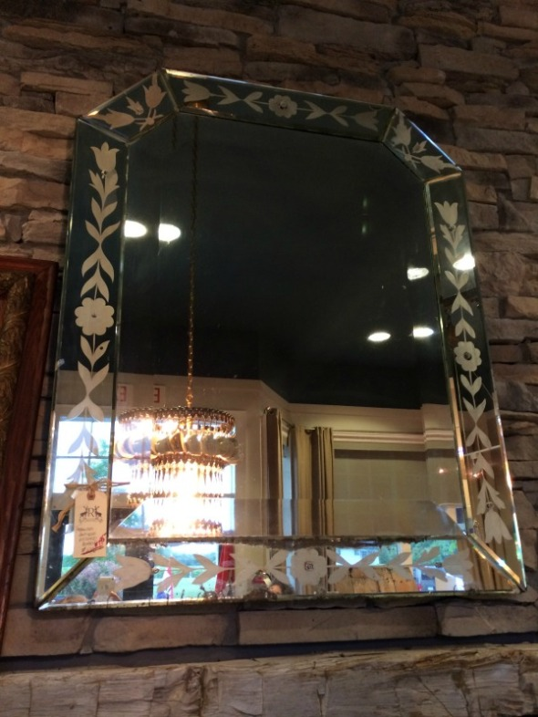 big etched mirror