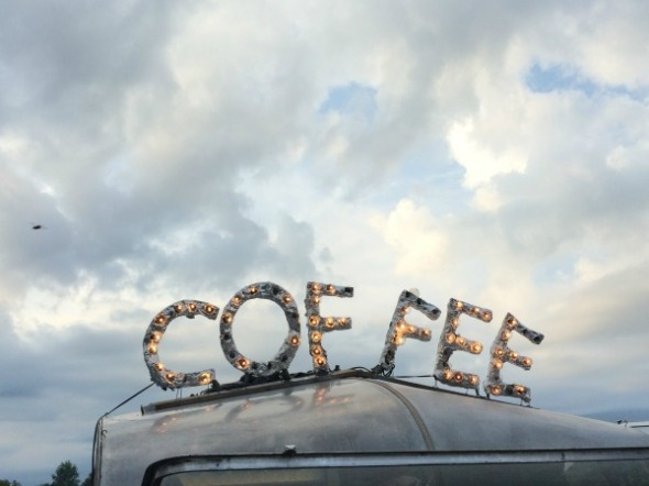 lighted coffee sign