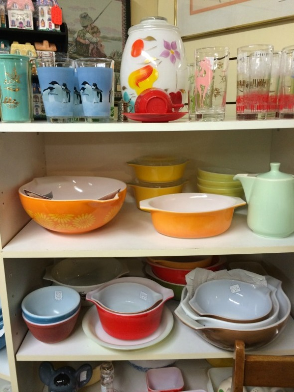 More Pyrex and fun colored plastics