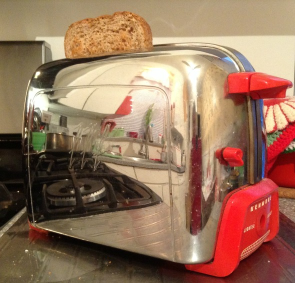 vintage chrome toaster