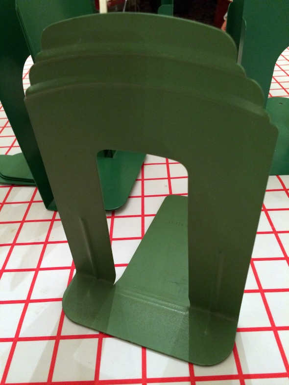 1950s industrial green Demco bookend