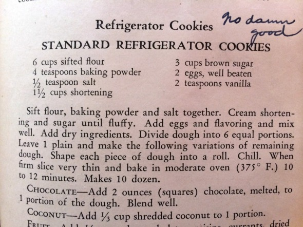 refrigerator cookies recipe