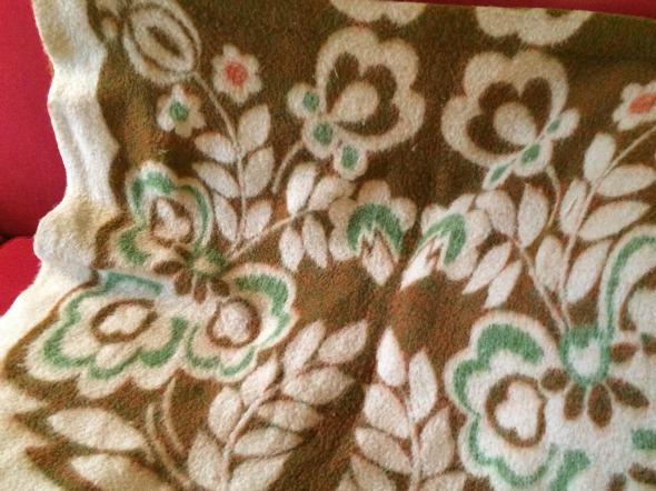 reverse side of woolly blanket