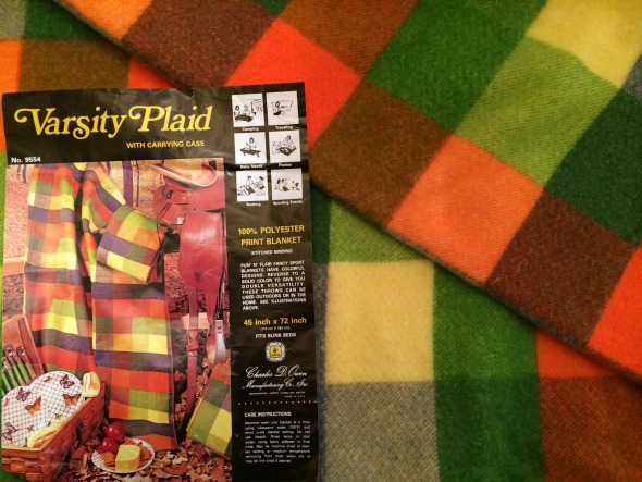 varsity plaid blanket