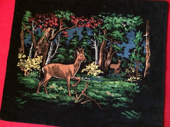 painted velvet pillow cover