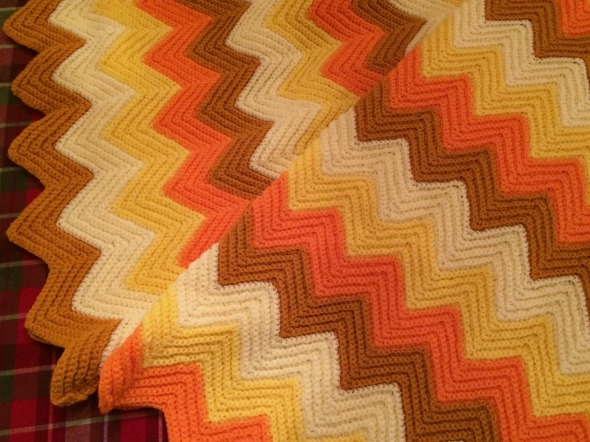 zigzag crochet afghan