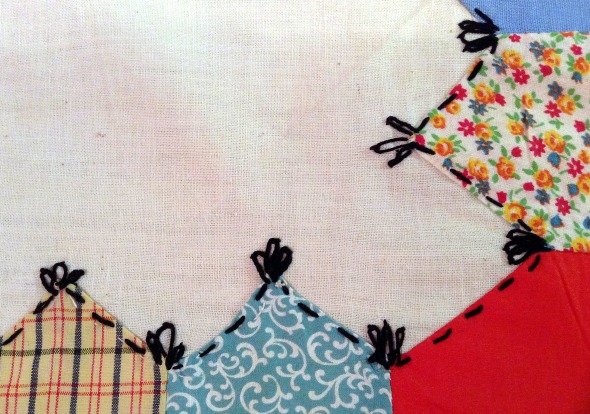 muslin cloth and applique border