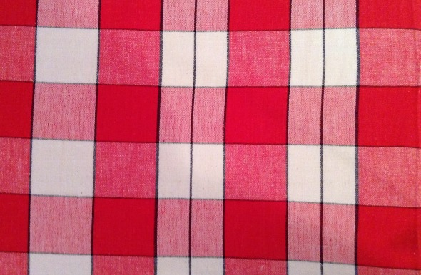 startex red and white check