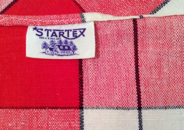 startex tablecloth tag