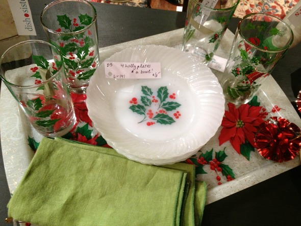 vintage christmas dishes