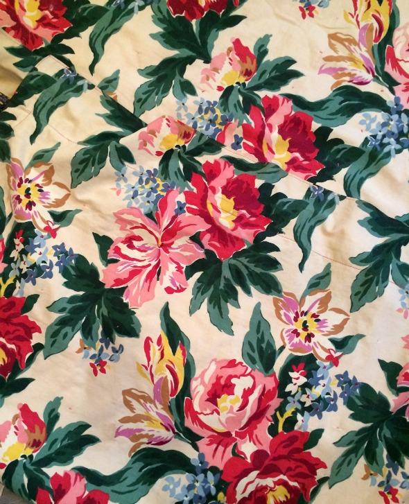 back of vintage quilt